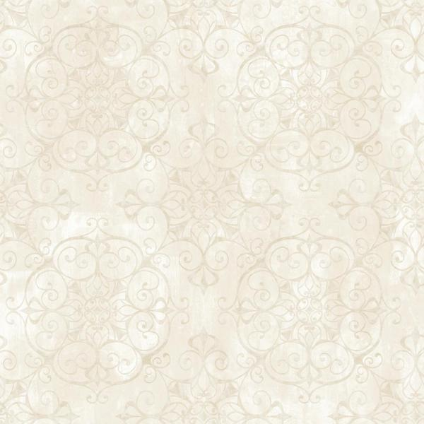 Chesapeake Aubrey Milk Crystal Medallion Texture Wallpaper VIR98235