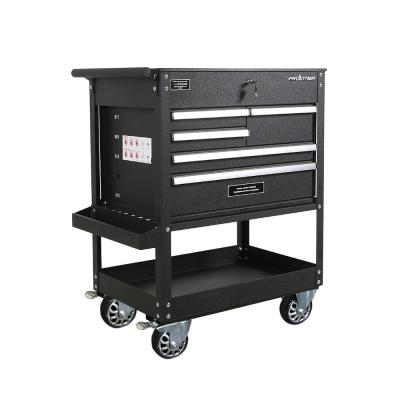 32.75 in. 5-Drawer Tool Utility Cart in Black