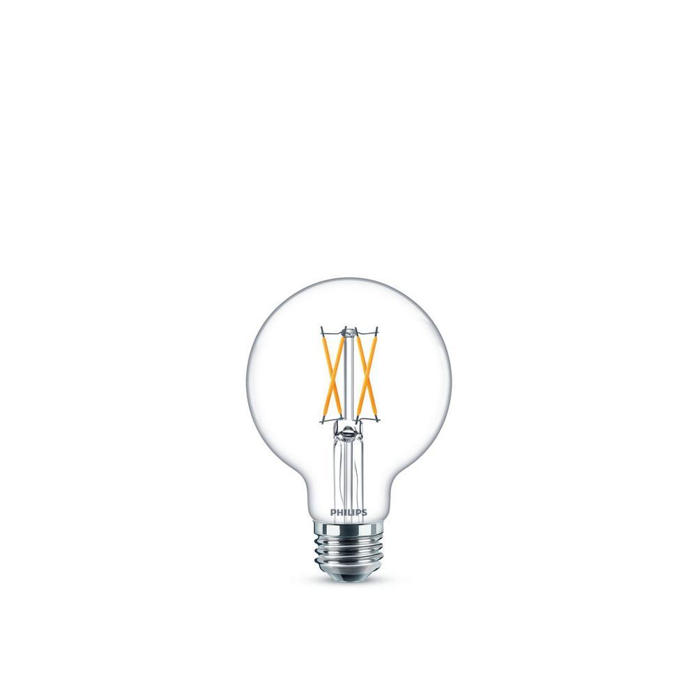 Philips 25-Watt Equivalent Soft White G25 Dimmable LED Light Bulb (2-Pack)
