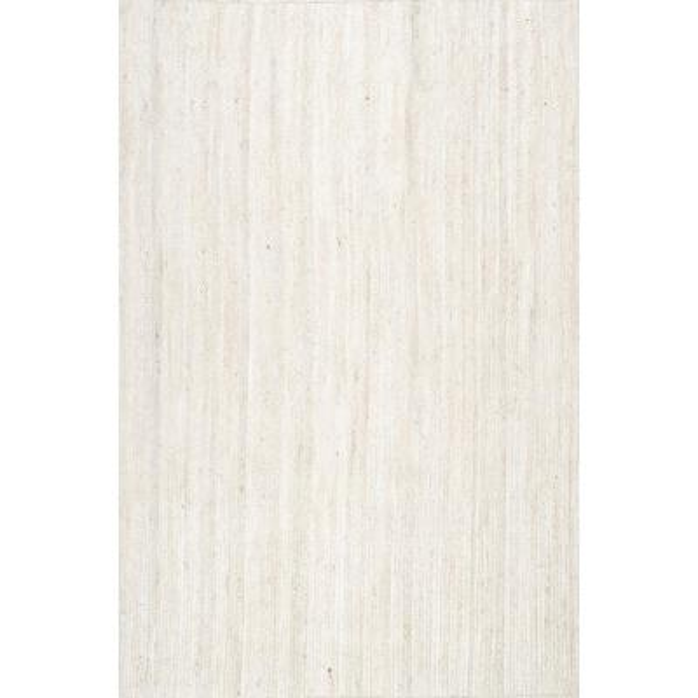 Rigo Chunky Loop Jute Off-White 10 ft. x 13 ft. Area Rug
