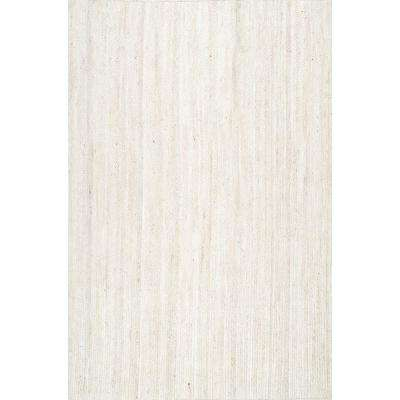 Rigo Jute Off White 10 ft. x 14 ft. Area Rug