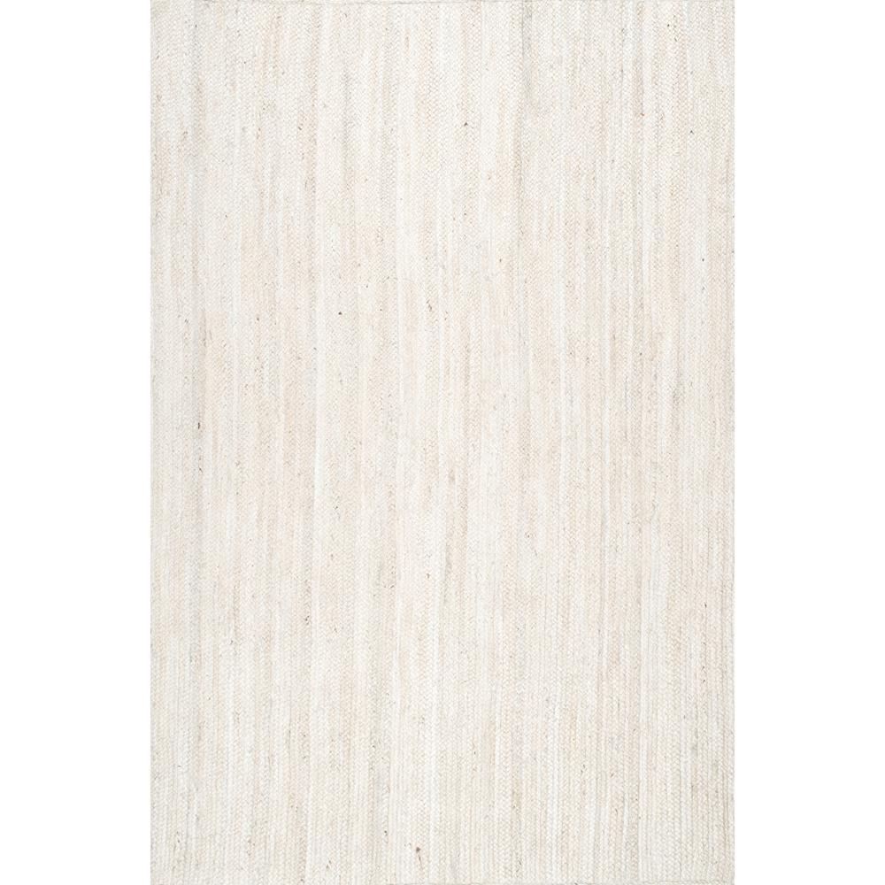 Rigo Chunky Loop Jute Off-White 9 ft. x 12 ft. Area Rug
