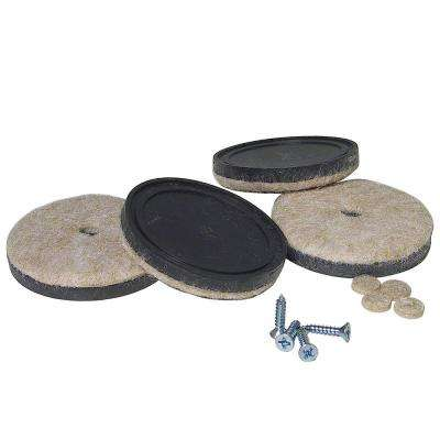 2-1/4 in. Screw-on Felt Pads (4-Pack)