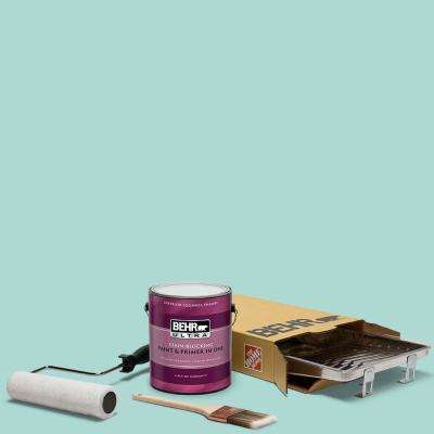 1 gal. #M450-3 Wave Top Ultra Eggshell Enamel Interior Paint and 5-Piece Wooster Set All-in-One Project Kit