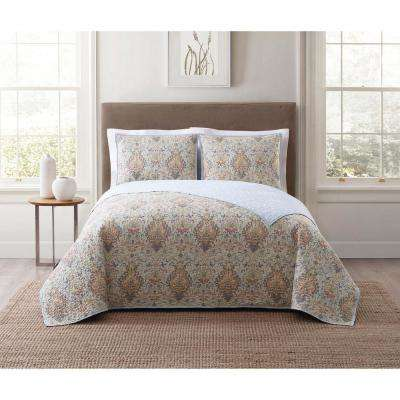 Cambridge Ivory Multi King Quilt Set