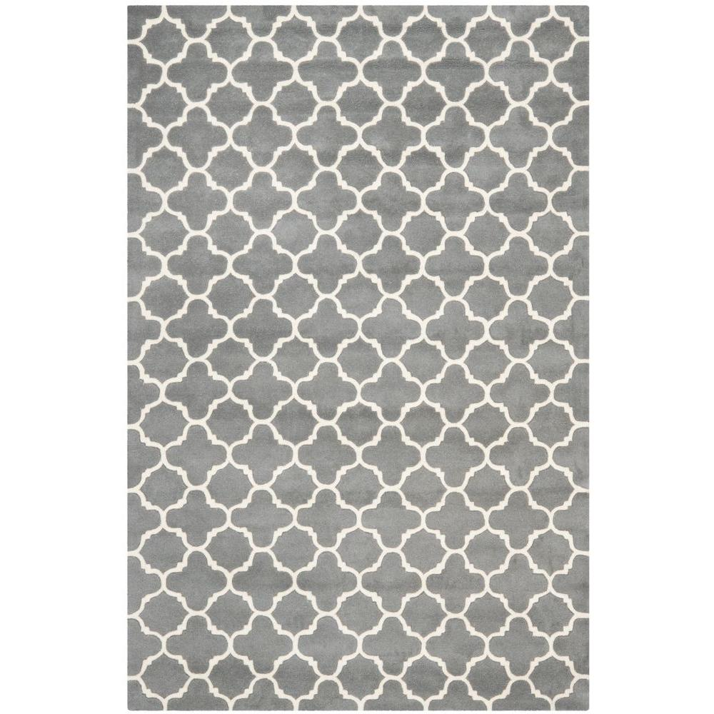 Chatham Dark Grey/Ivory 6 ft. x 9 ft. Area Rug
