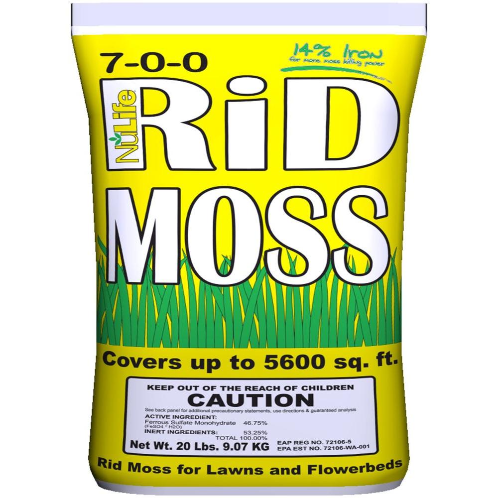 Nulife Rid Moss 20 Lb Ready To Use Control Granules Wnl03027 Green Coffee