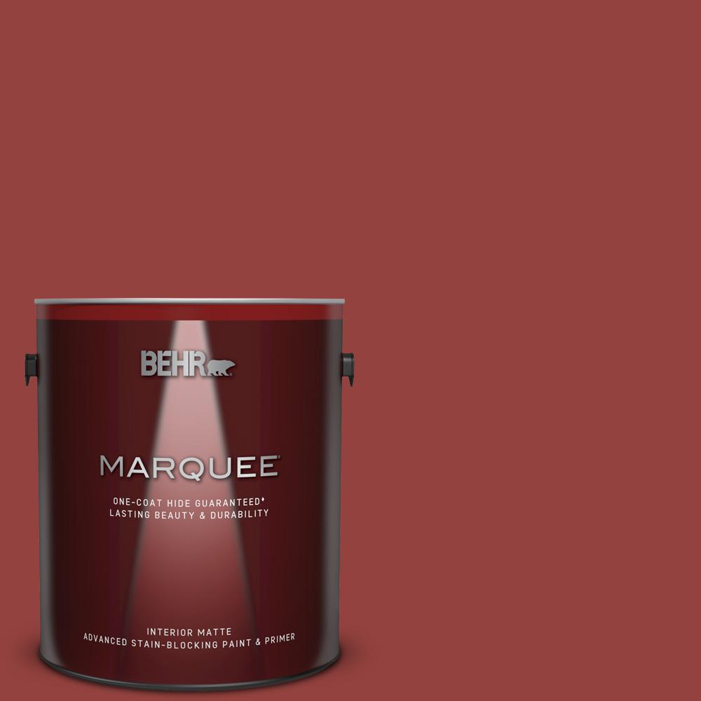 Behr Marquee 1 Gal Home Decorators Collection Hdc Fl14 4 Cranberry Zing Matte Interior Paint Primer