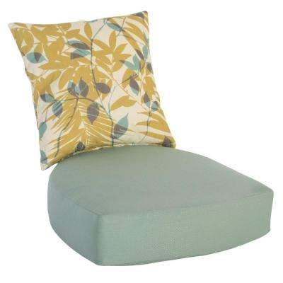 Haver Hill 23.86 x 21.13 Outdoor Lounge Chair Cushion in Standard Aqua
