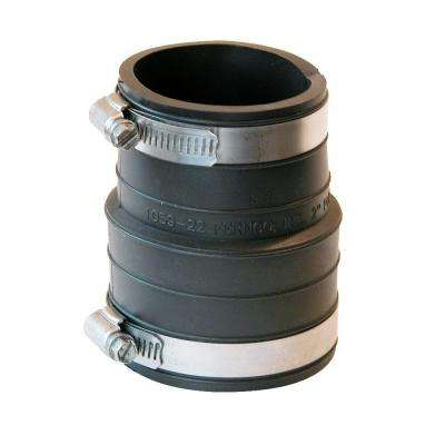 2 in. Plastic Hub x 2 in. Flexible PVC Coupling