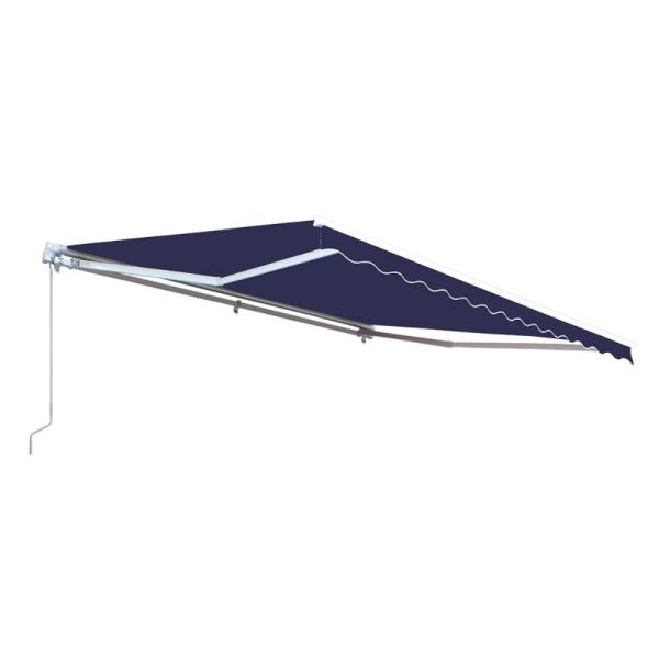 13 ft. Manual Patio Retractable Awning (120 in. Projection) in Blue