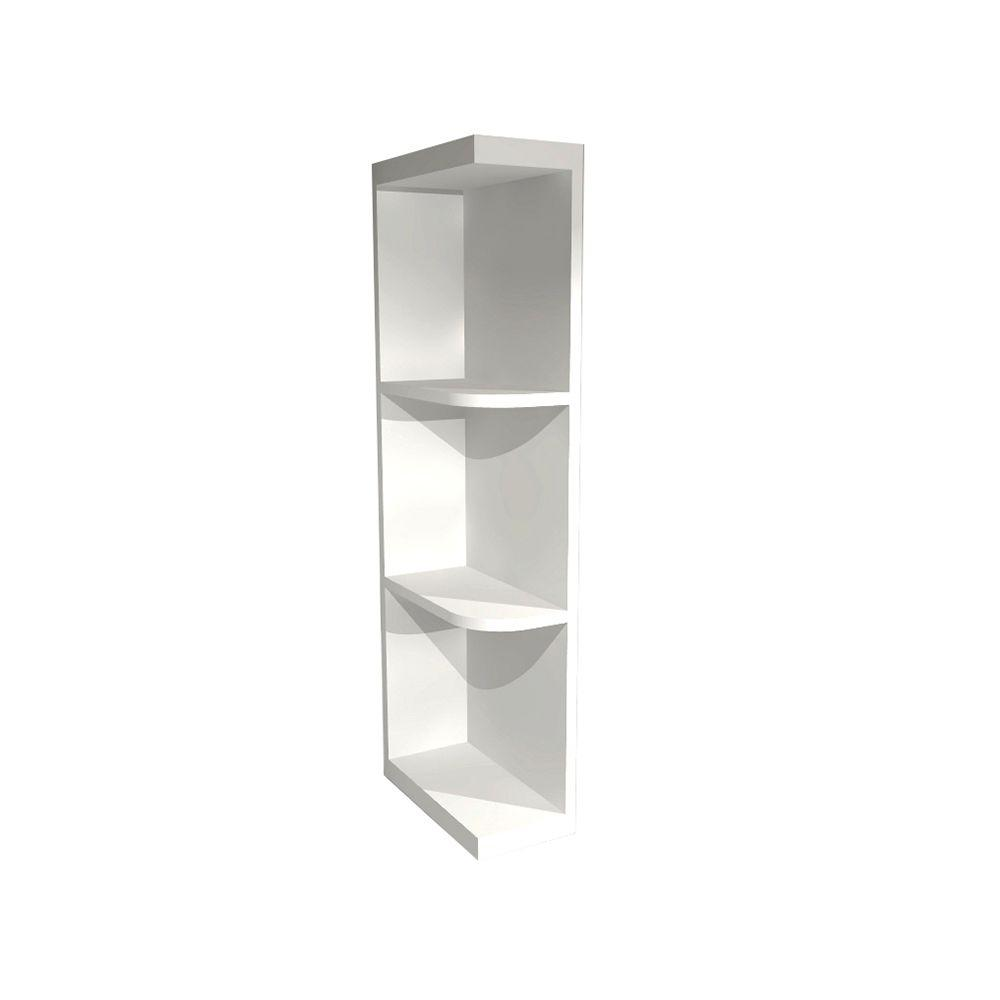 Home Decorators Collection Newport Pacific White Assembled 6x36x12 in. Wall Kitchen Open End Shelf