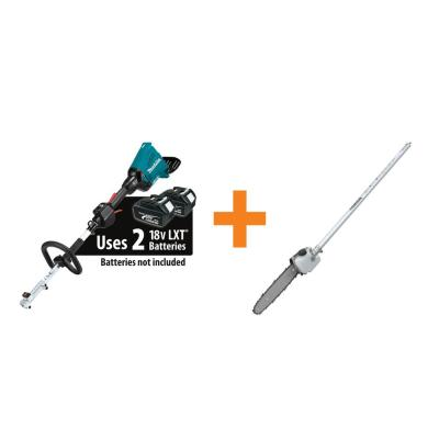 18-Volt X2 (36-Volt) LXT Lithium-Ion Brushless Cordless Couple Shaft Power Head (Tool-Only) 10 in. Pole Saw Attachment
