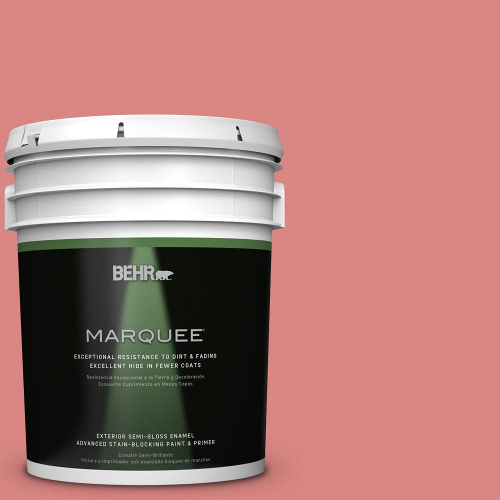 BEHR MARQUEE 5-gal. #M160-5 Pink Damask Semi-Gloss Enamel Exterior Paint