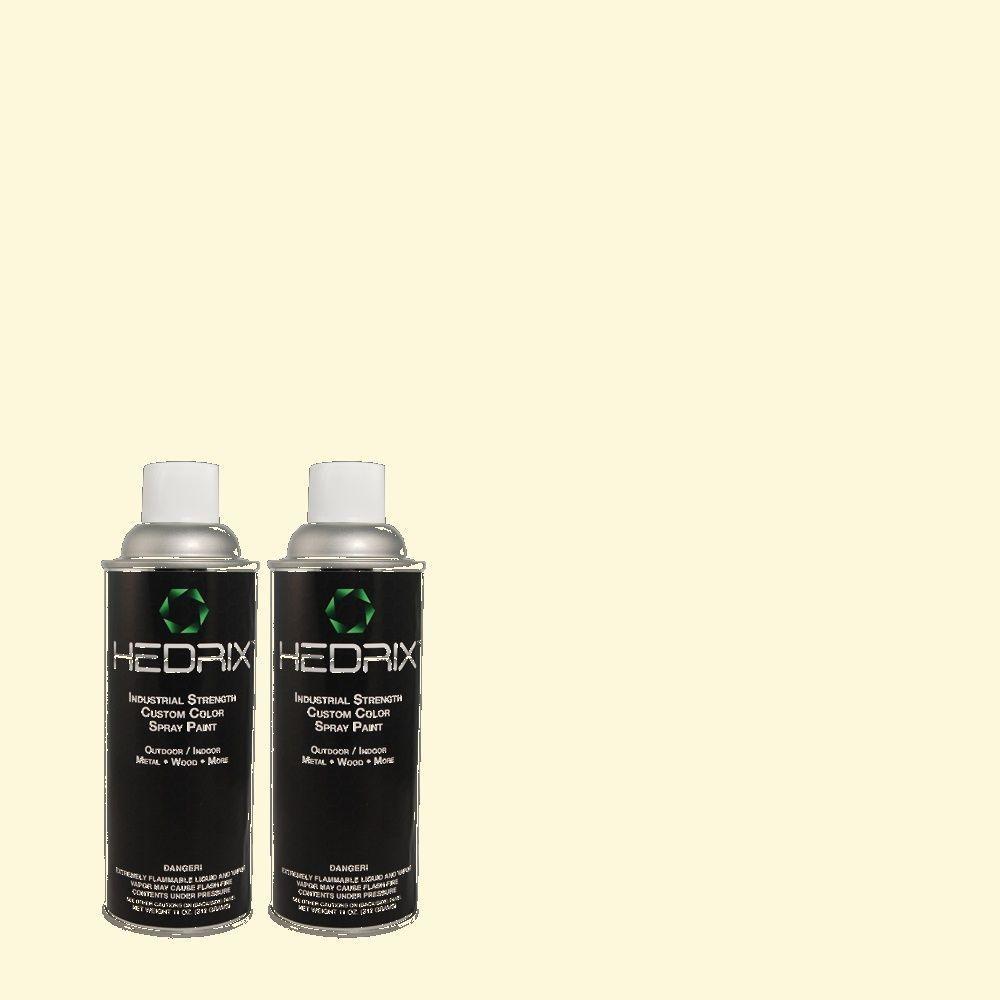 Hedrix 11 oz. Match of 1B2-1 Crystal Light Semi-Gloss Custom Spray Paint (2-Pack)
