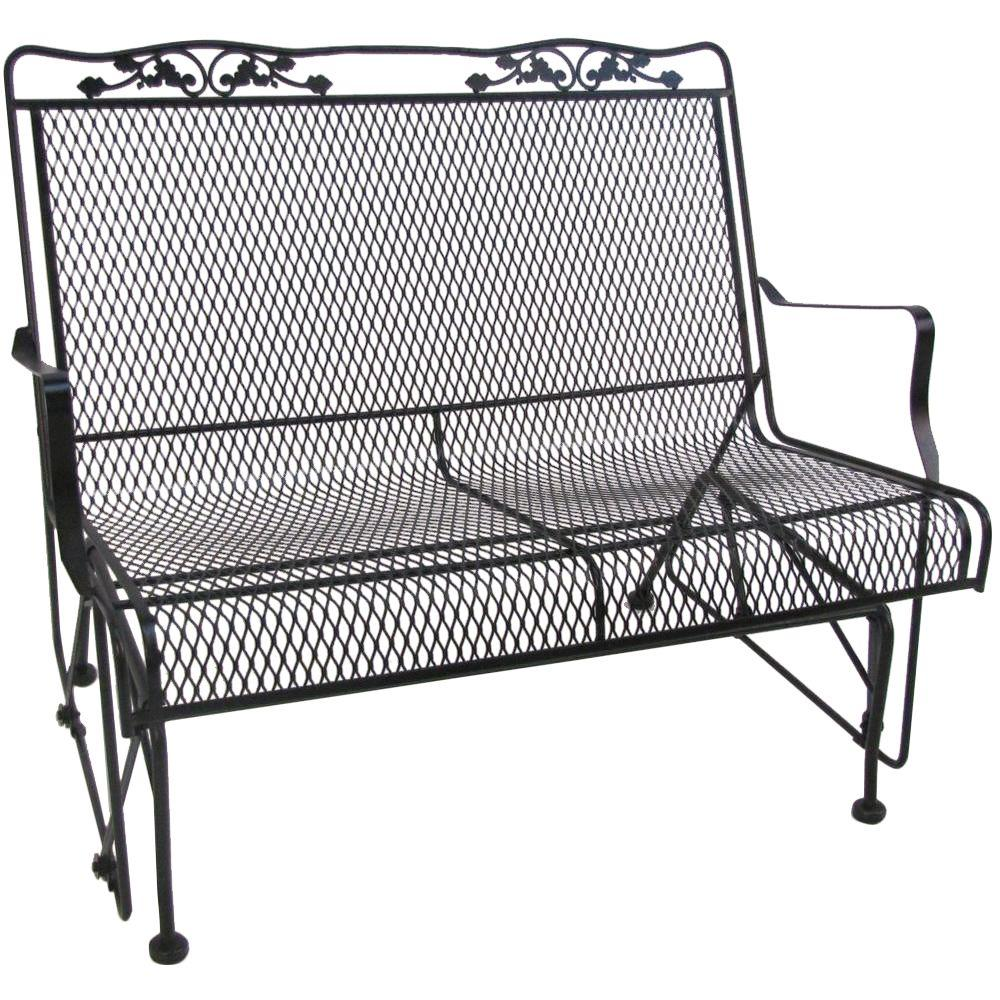 Arlington House Glenbrook Black Patio Glider 7874000