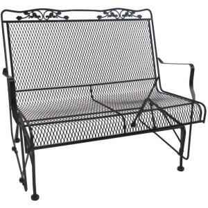 Arlington House Glenbrook Black Patio Glider by Arlington House