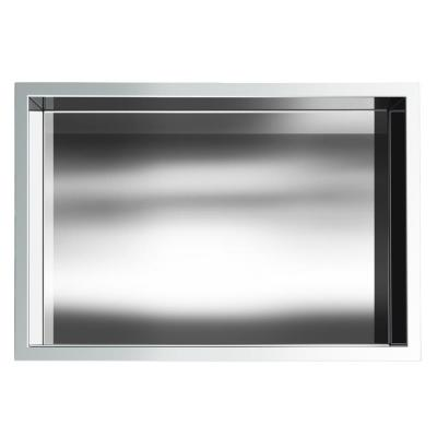 Showroom Series 12 in. x 18 in. Stainless Steel Shower Niche in Polished Chrome