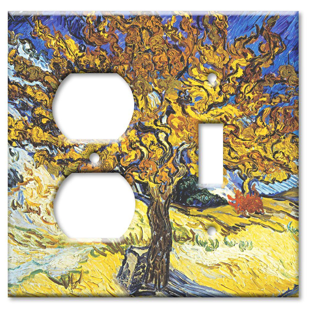 Art Plates Van Gogh Mulberry Tree Outlet/Switch Combo Wall Plate