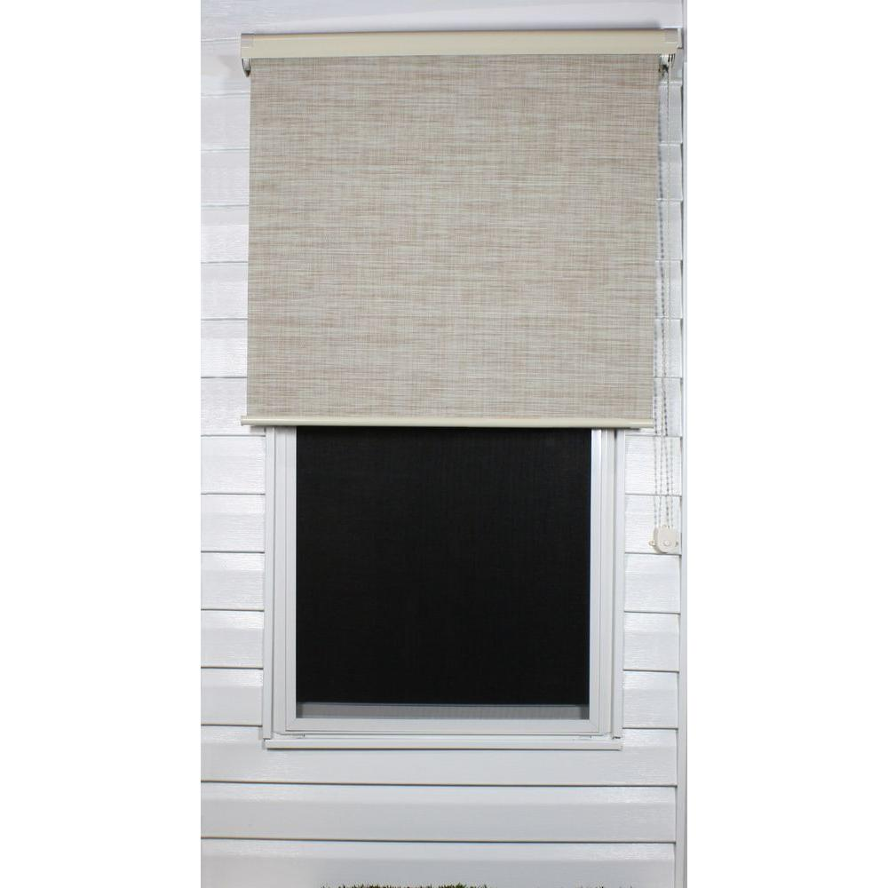 Coolaroo Linen Exterior Roller Shade, 92% UV Block (Price Varies by Size)-DISCONTINUED