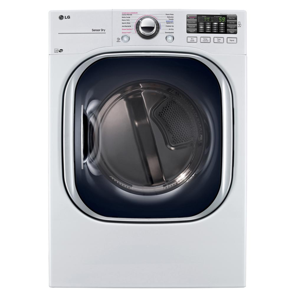 LG Electronics 7.4 cu. ft. Gas Dryer with TurboSteam in White