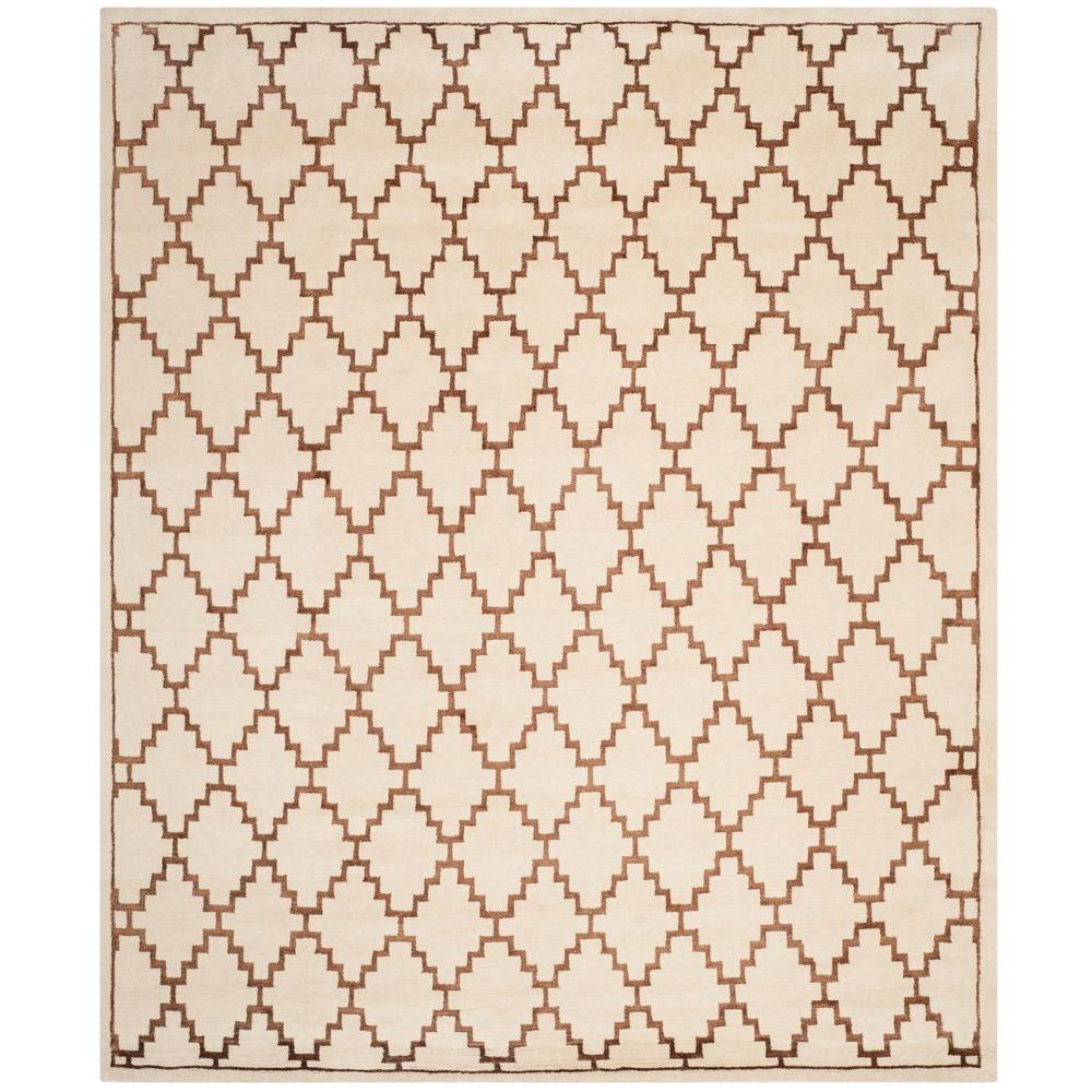 Safavieh Mosaic Ivory/Brown 8 ft. x 10 ft. Area Rug