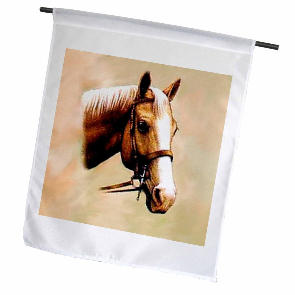 3dRose Horse 1 ft  x 1-1/2 ft  Palomino Horse Flag