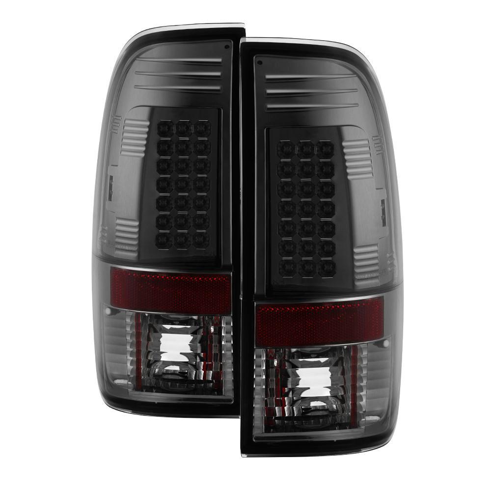 LED Tail Lights 97-03 Ford F150 99-07 F250 F350 F450 Super Duty Truck Smoked
