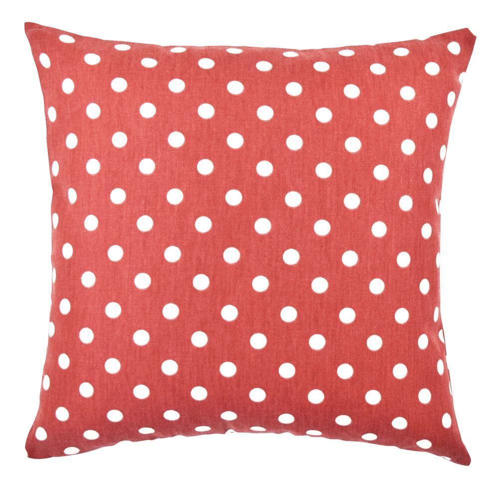Polka Dot Printed Cotton Throw Pillow