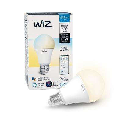 60W Equivalent A19 Tunable White Wi-Fi Connected Smart LED Light Bulb