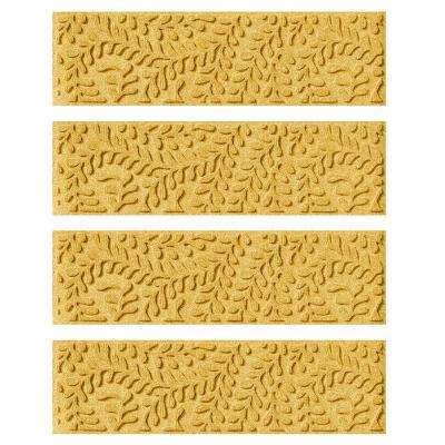 Yellow 8.5 in. x 30 in. Boxwood Stair Tread Cover (Set of 4)