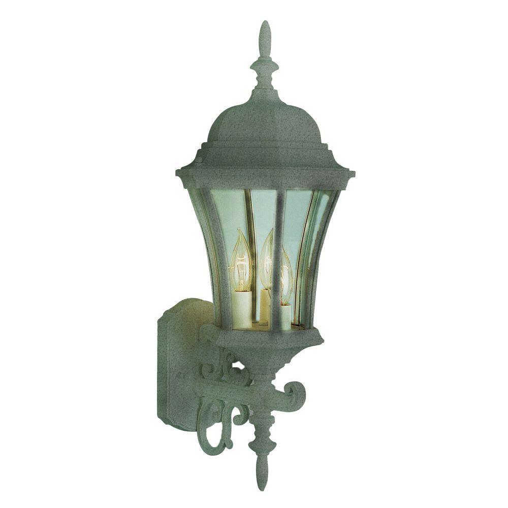 Cabernet 3 Light Outdoor Wall Verde Green Incandescent Lantern