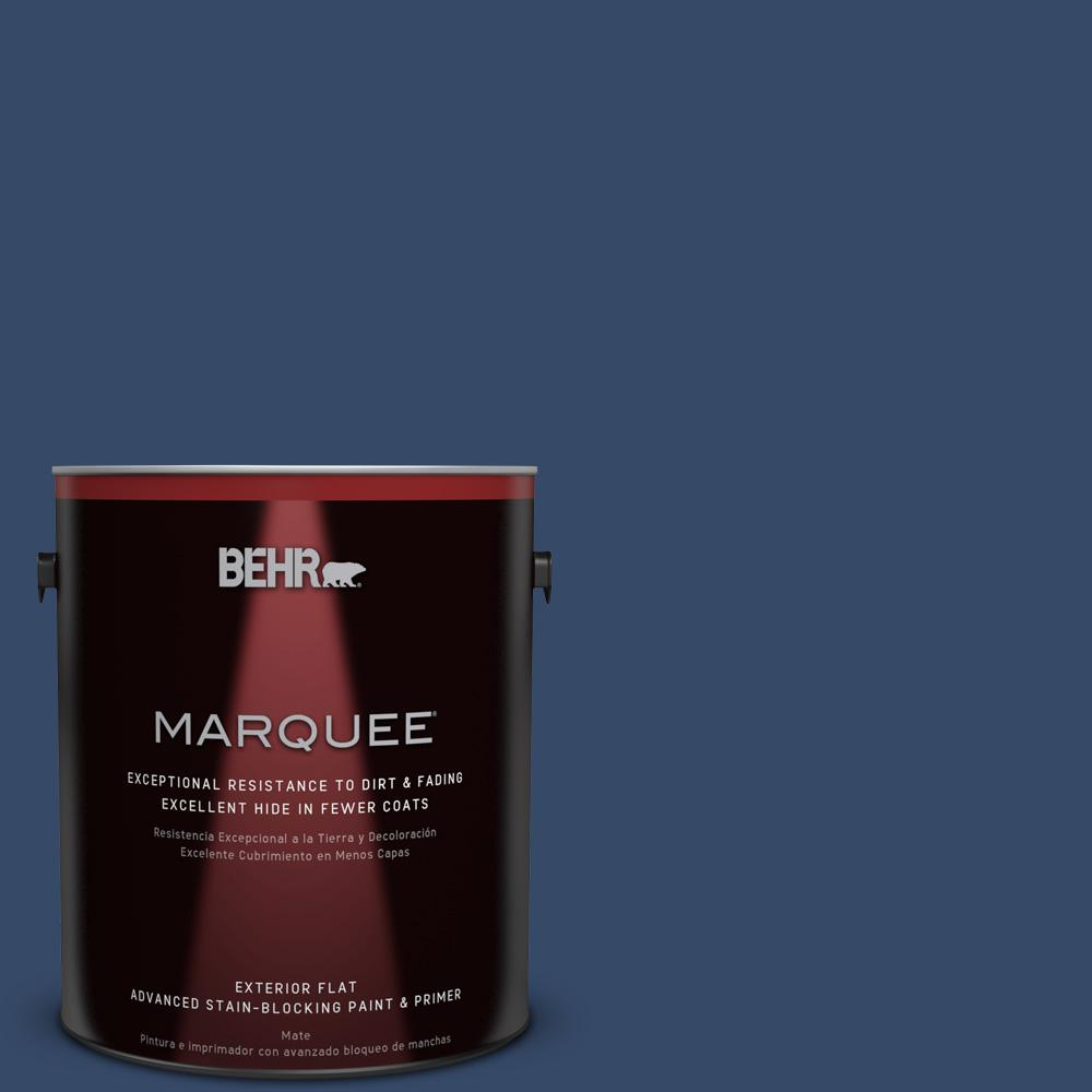 BEHR MARQUEE 1-gal. #580D-7 Deep Royal Flat Exterior Paint