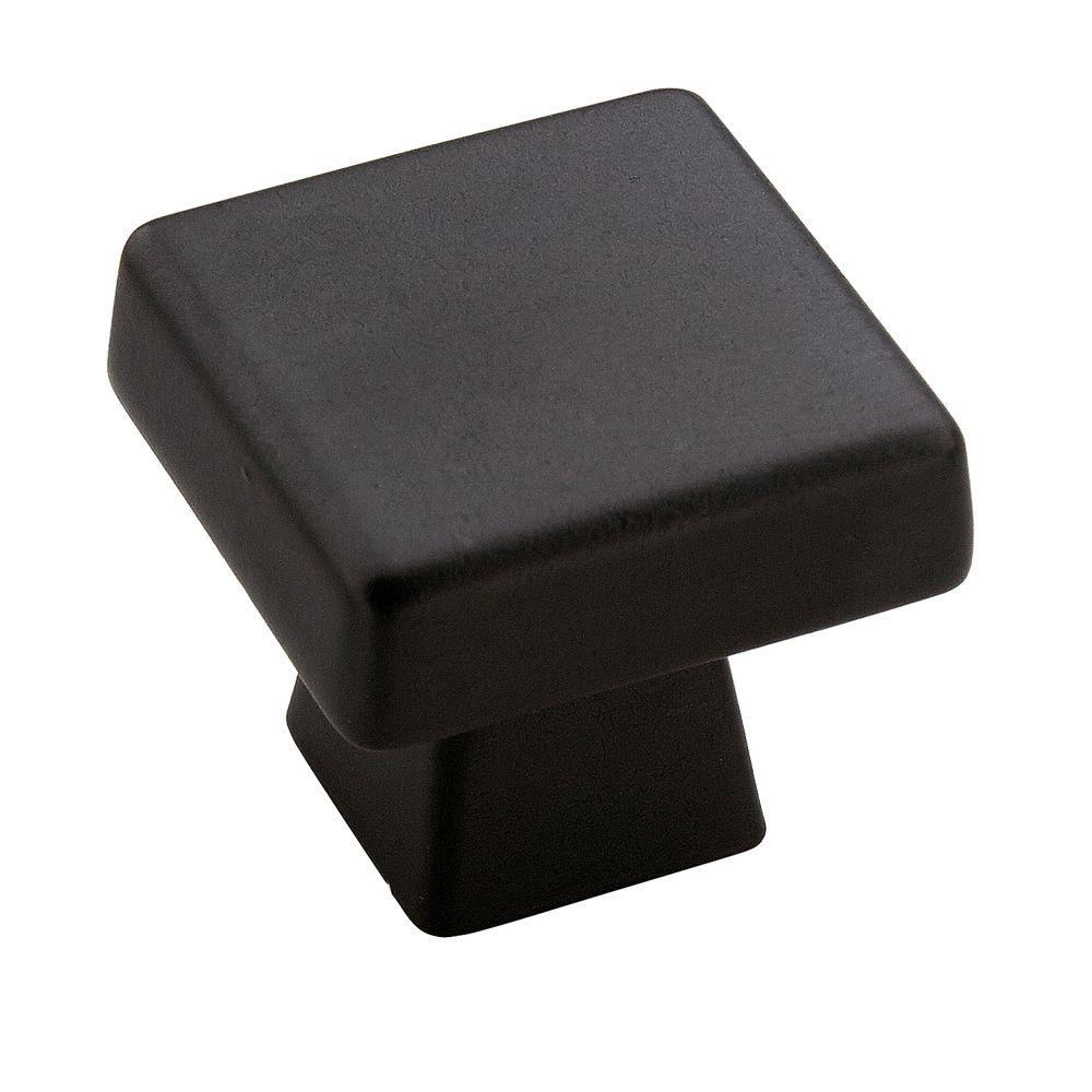 Blackrock 1 in. Black Bronze Square Cabinet Knob