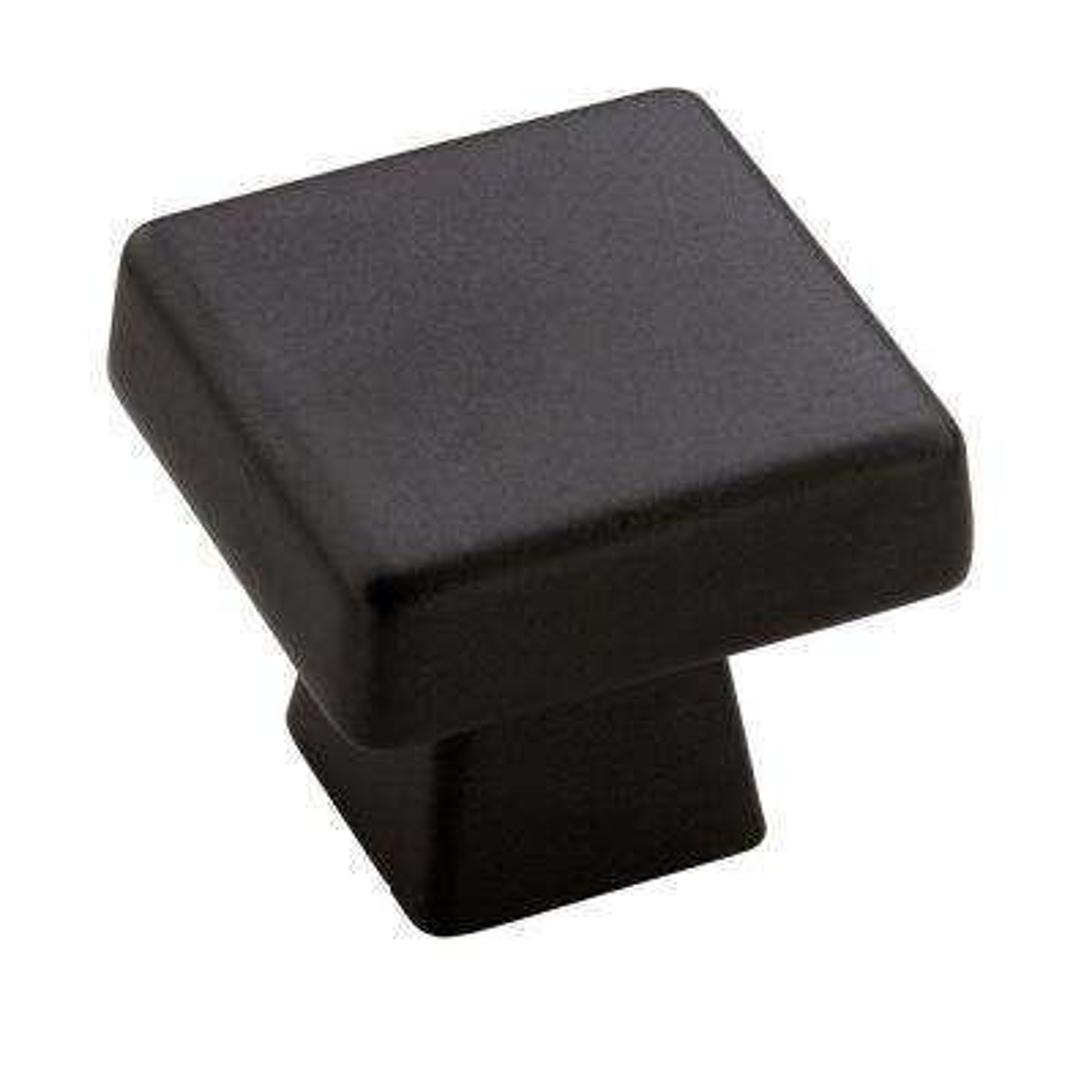 Blackrock 1 in. Black Bronze Square Cabinet Knob