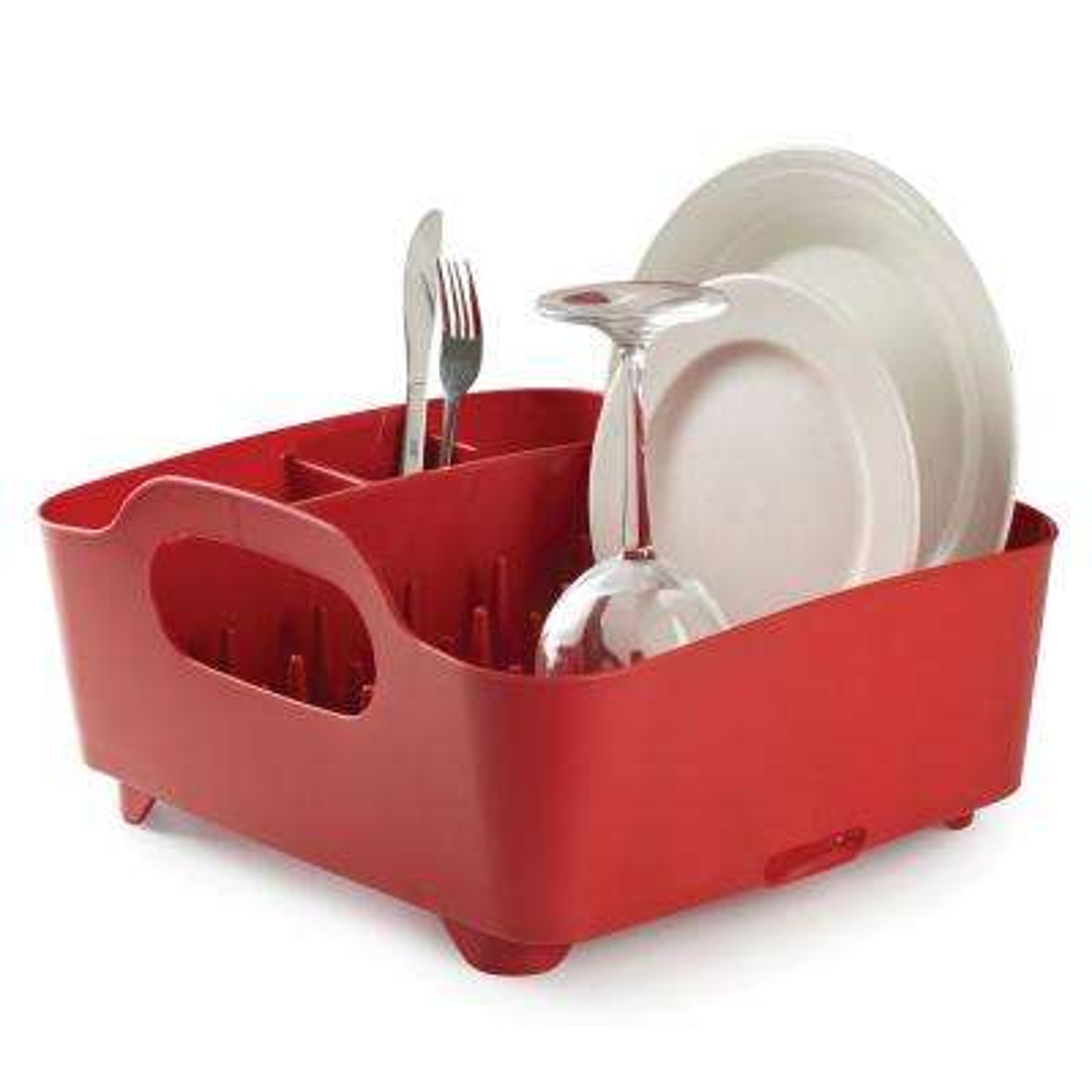 Tub Red Dish Rack