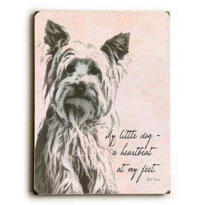"9 in. x 12 in. ""My little dog"" by Lisa Weedn ""Solid Wood"" Wall Art"