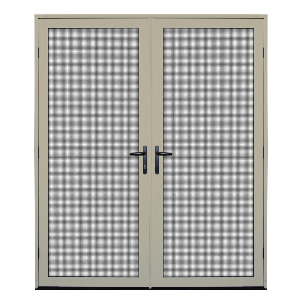 64 in. x 80 in. Almond Surface Mount Meshtec Ultimate Screen