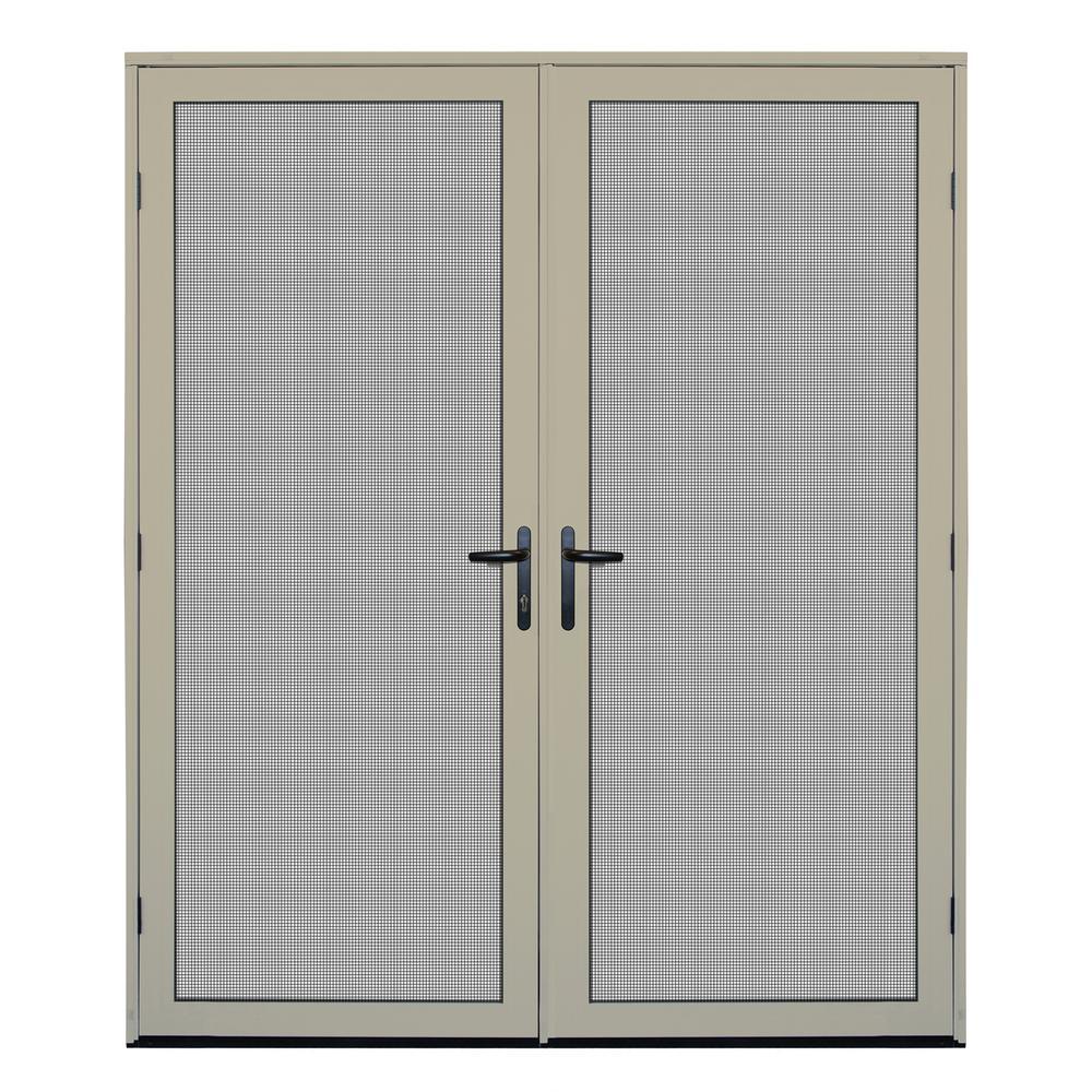Almond Surface Mount Meshtec Ultimate Screen Door · Unique Home Designs ...