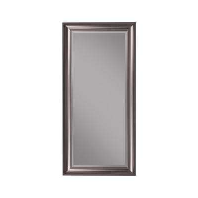 Silver Full Length Leaner Floor Mirror