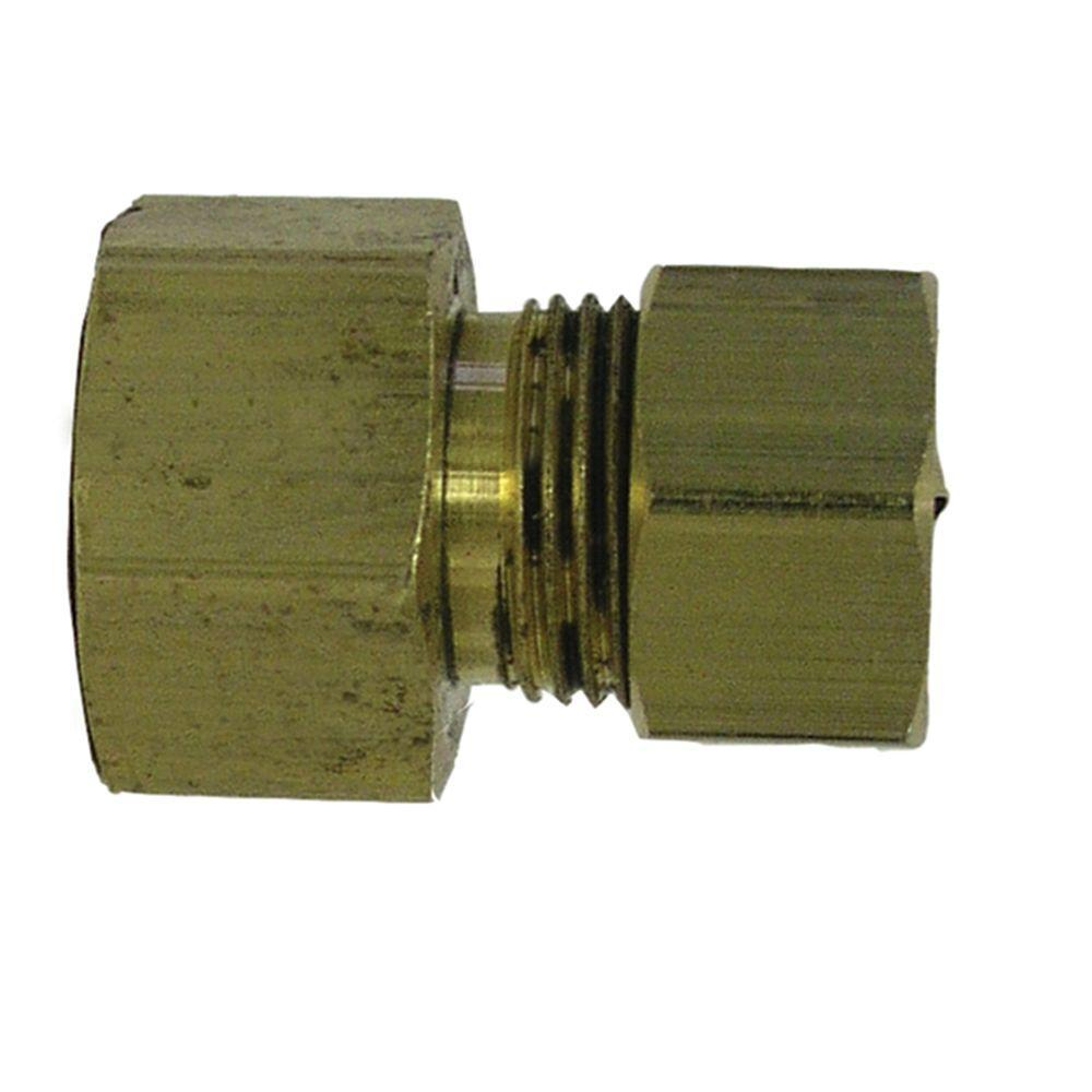 1/2 in. Fem O.D. x 3/8 in. O.D. Lead-Free Brass Compression