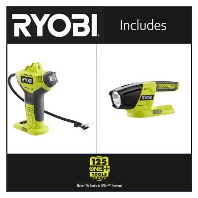 18-Volt ONE+ Lithium-Ion Cordless High Pressure Inflator with Digital Gauge with LED Light (Tools Only)