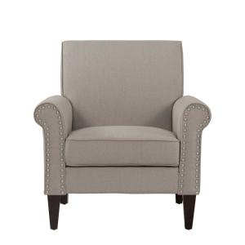 Groovy Handy Living Jean Taupe Linen Arm Chair B340C Lnn83 100 Ibusinesslaw Wood Chair Design Ideas Ibusinesslaworg