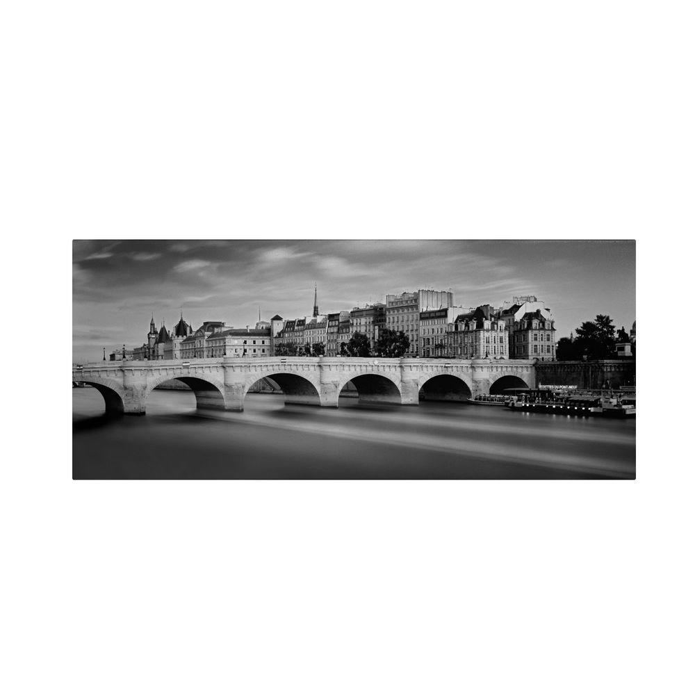 Trademark Fine Art 20 in. x 47 in. Paris River Canvas Art