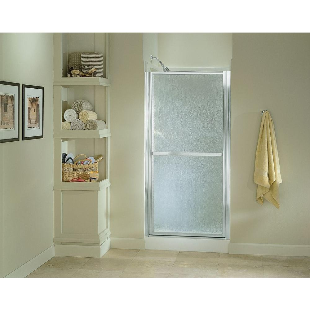 STERLING Finesse 33-1/2 in. x 65-1/2 in. Framed Pivot Shower Door in Silver with Handle