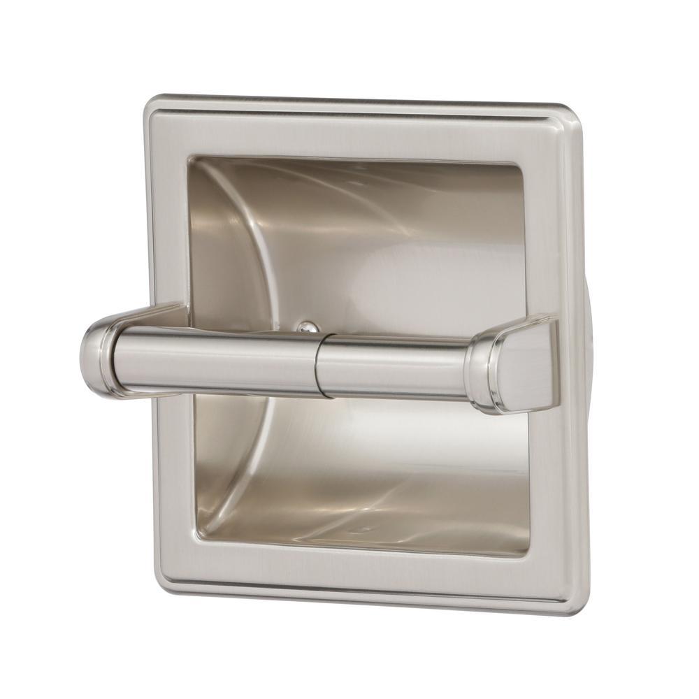 "Ceramic Toilet Paper Wall Mount Holder Gloss White 6 1//2/"" x 4 3//4/"""