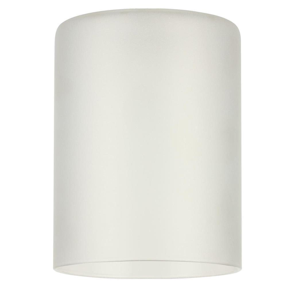 5-1/4 in. Frosted Cylinder Shade with 2-1/4 in. Fitter and 3-15/16