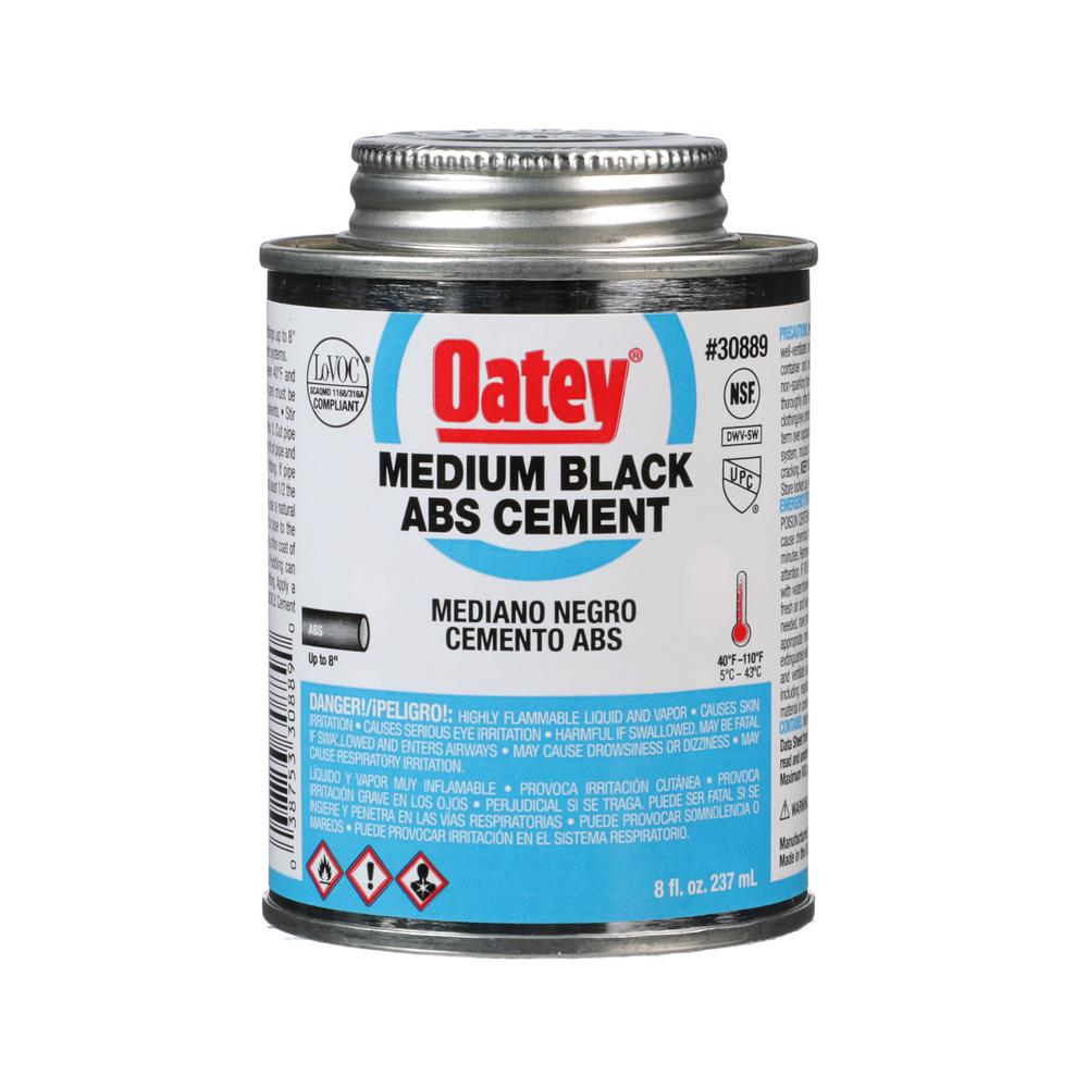 Oatey 8 Oz Abs Cement In Black 308893 The Home Depot