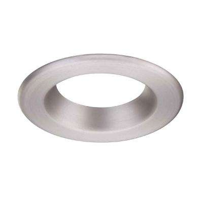 4 in. Decorative Brushed Nickel Trim Ring for LED Recessed Light with Magnetic Trim Ring