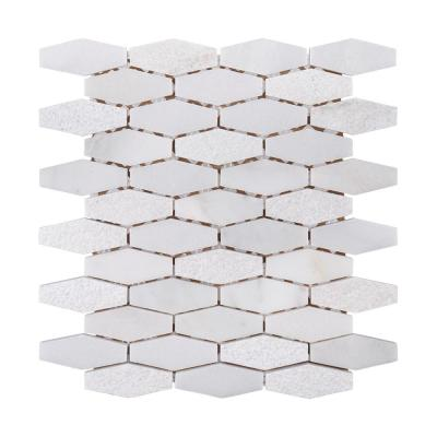 Nimbus White 11.625 in. x 11.5 in. Hexagon Mixed Marble Wall and Floor Mosaic Tile (0.928 sq. ft./Each)